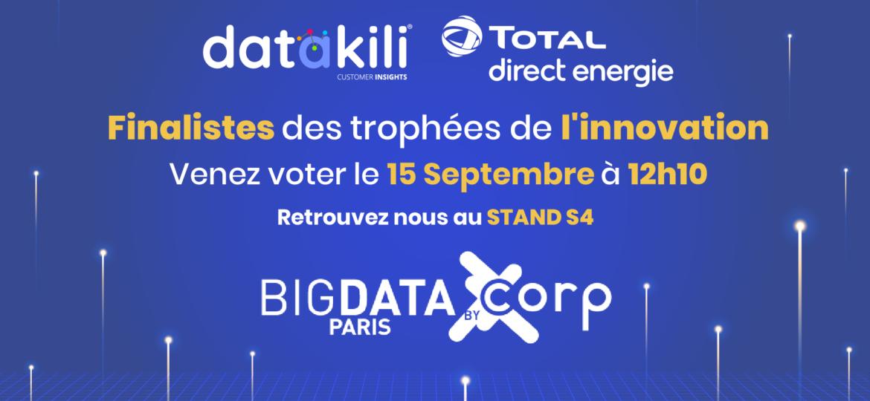 datakili® et Total Direct Energie finalistes aux trophées de l'innovation Big Data.