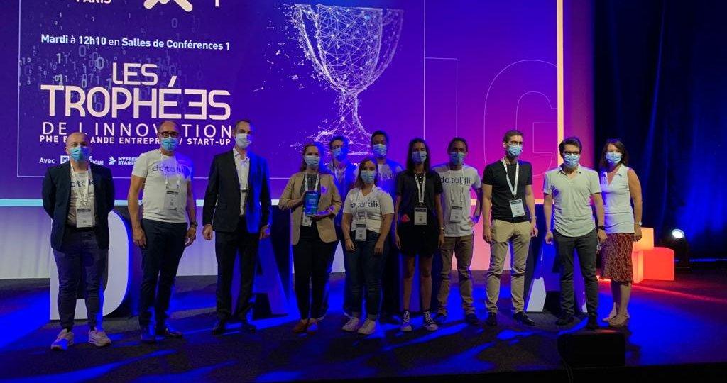 Total Direct Energie remporte le trophée de l'innovation PME/grande entreprise avec datakili au salon Big Data & AI Paris